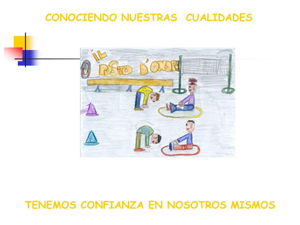 CONOCIENDO NUESTRAS CUALIDADES TENEMOS CONFIANZA EN NOSOTROS MISMOS