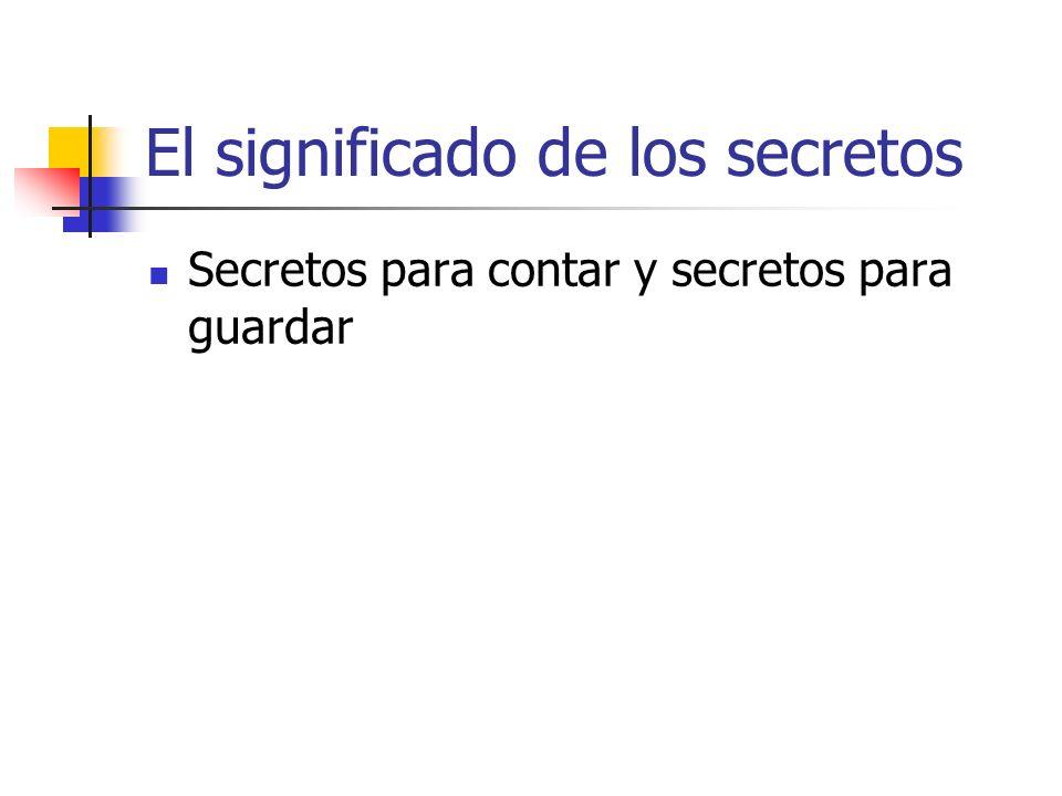 El significado de los secretos
