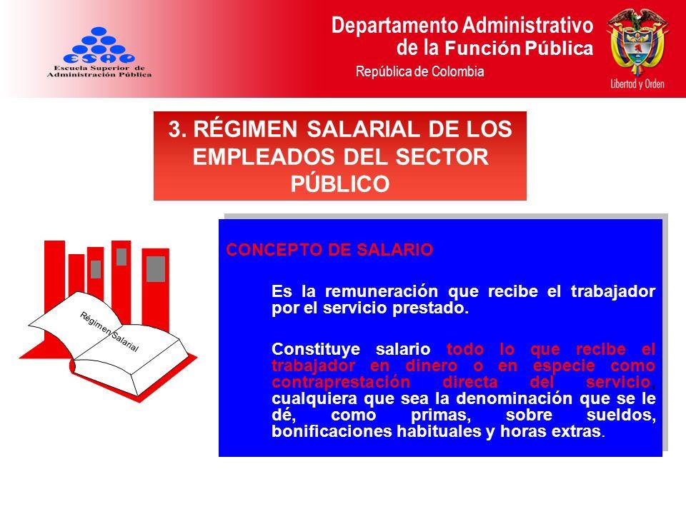 3. RÉGIMEN SALARIAL DE LOS EMPLEADOS DEL SECTOR PÚBLICO
