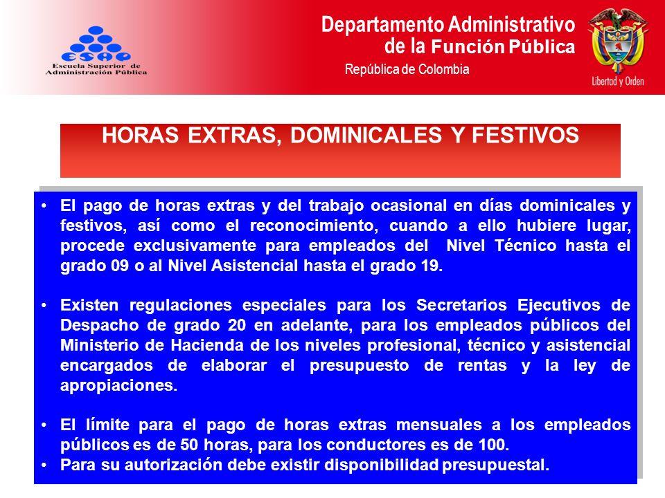 HORAS EXTRAS, DOMINICALES Y FESTIVOS