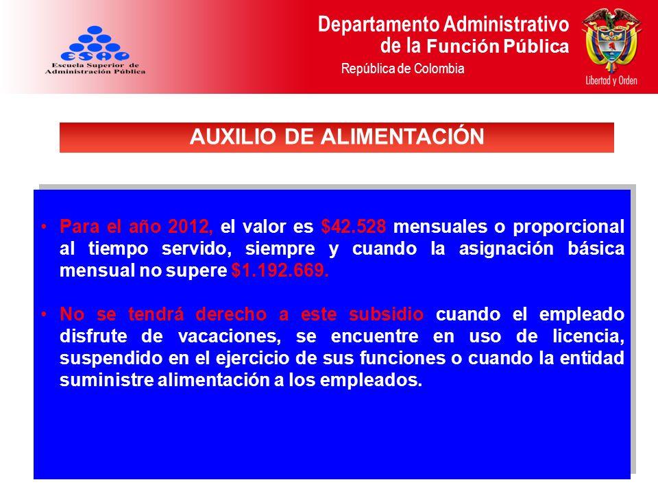 AUXILIO DE ALIMENTACIÓN