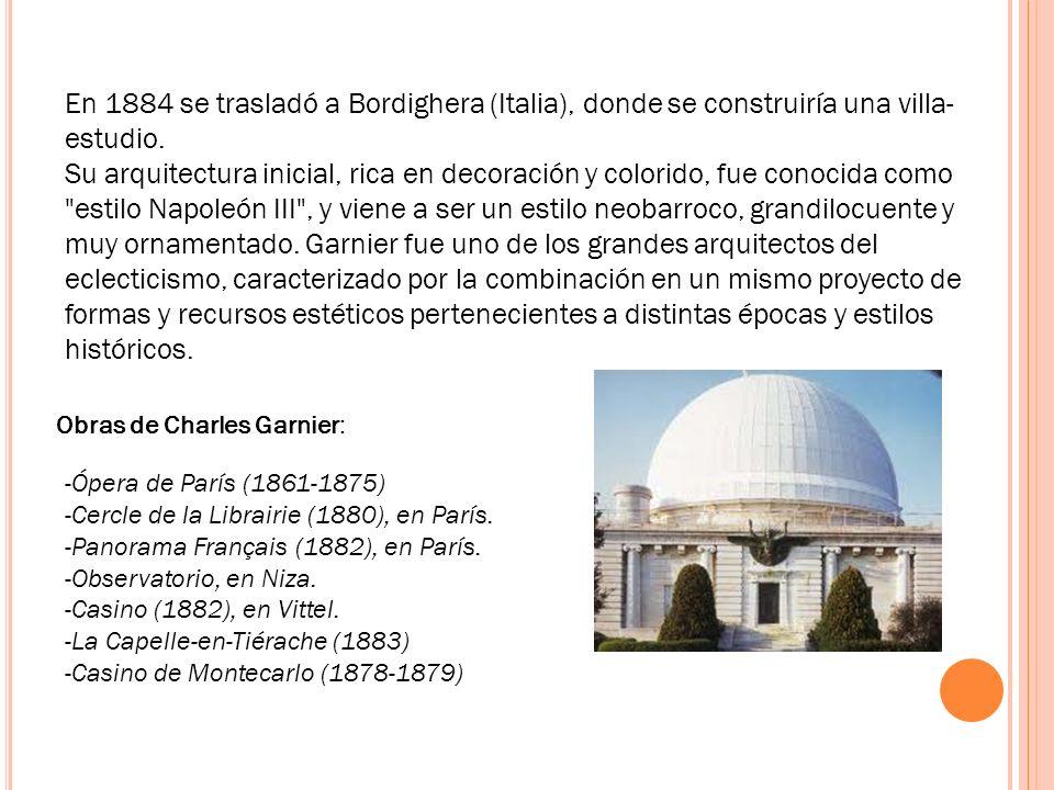 En 1884 se trasladó a Bordighera (Italia), donde se construiría una villa-estudio.