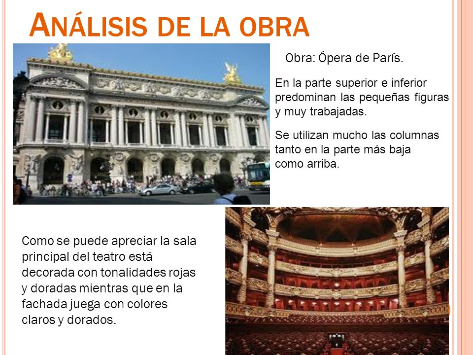 Análisis de la obra Obra: Ópera de París.