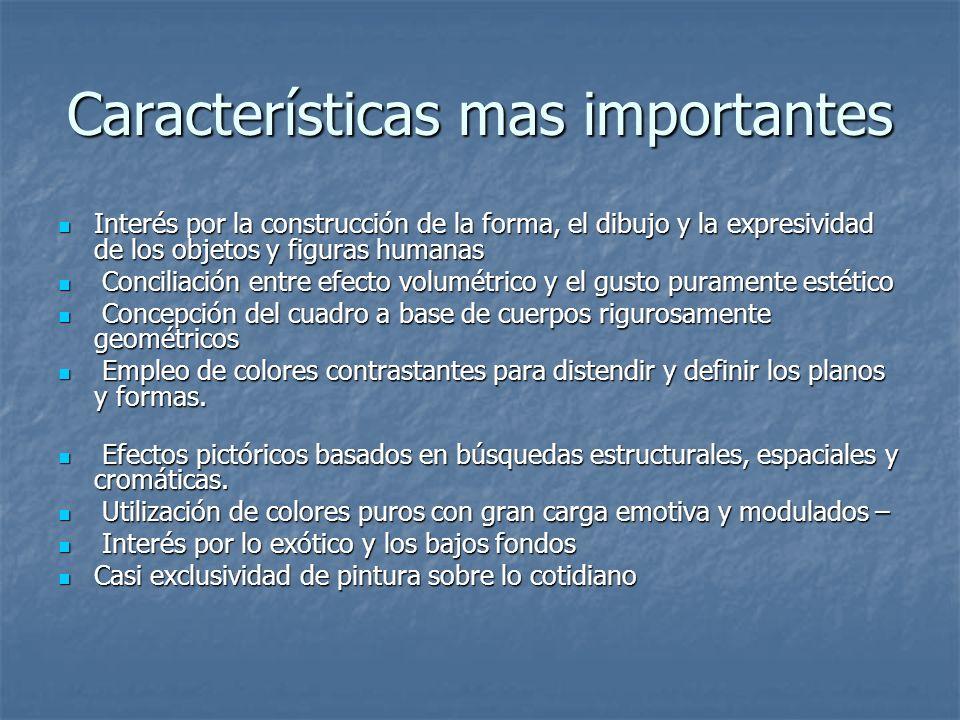 Características mas importantes