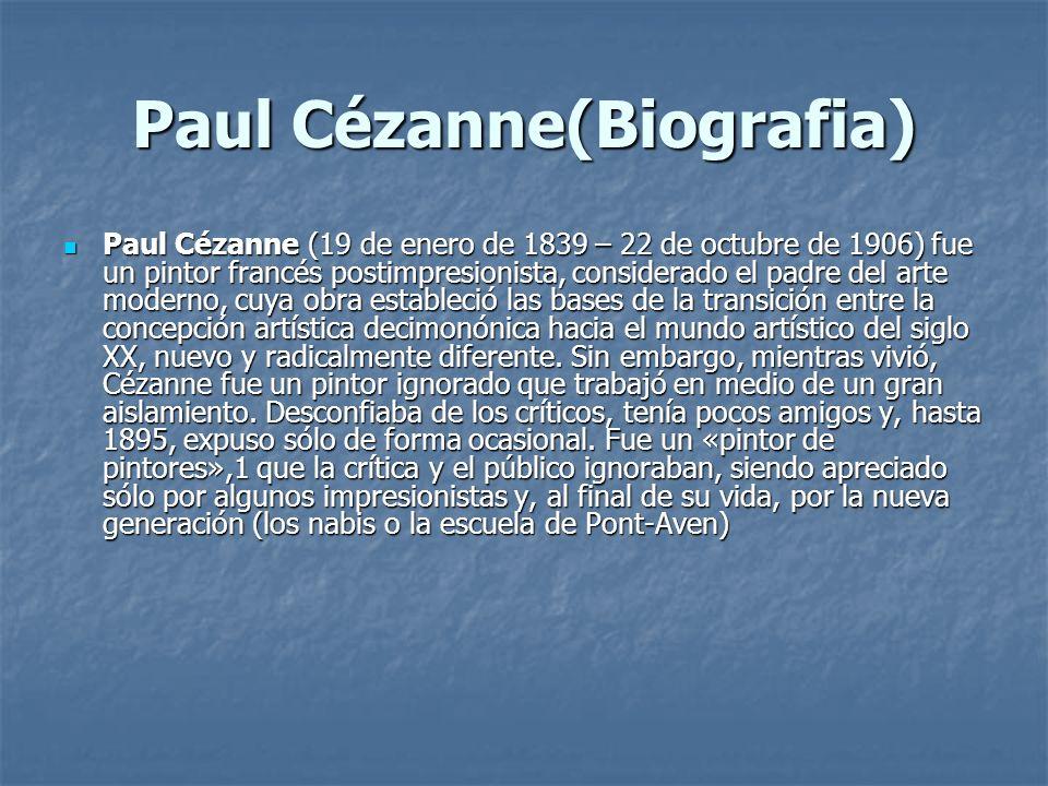 Paul Cézanne(Biografia)