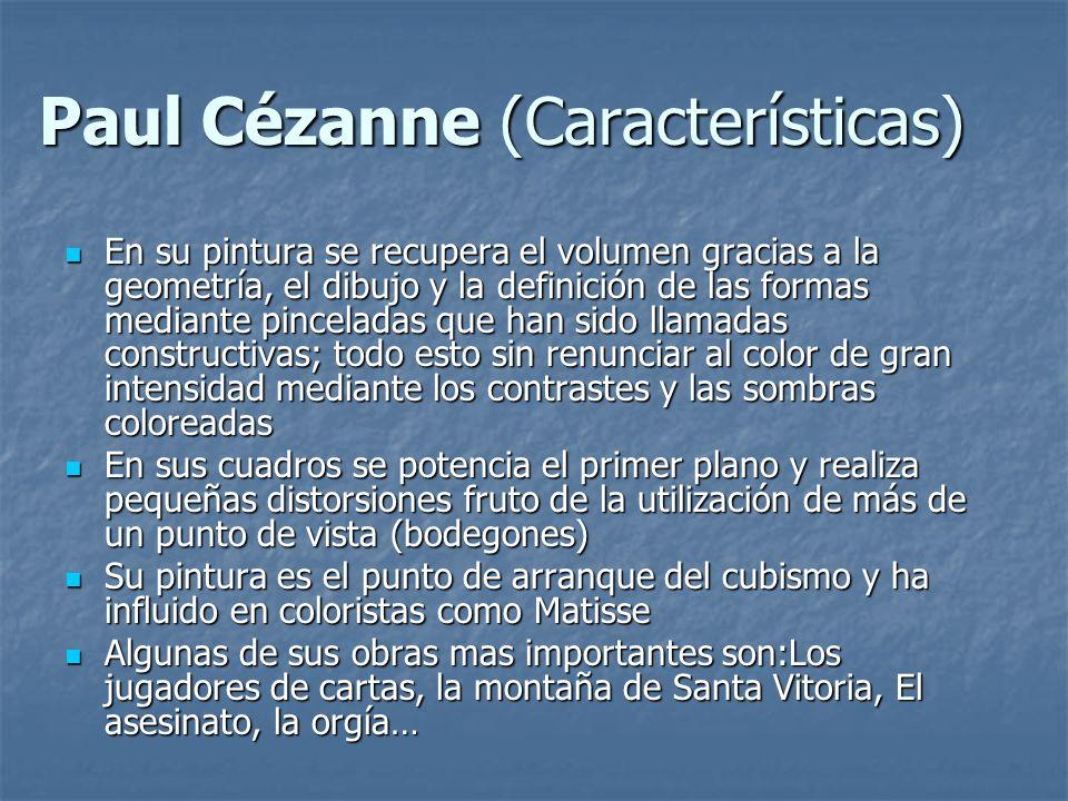 Paul Cézanne (Características)