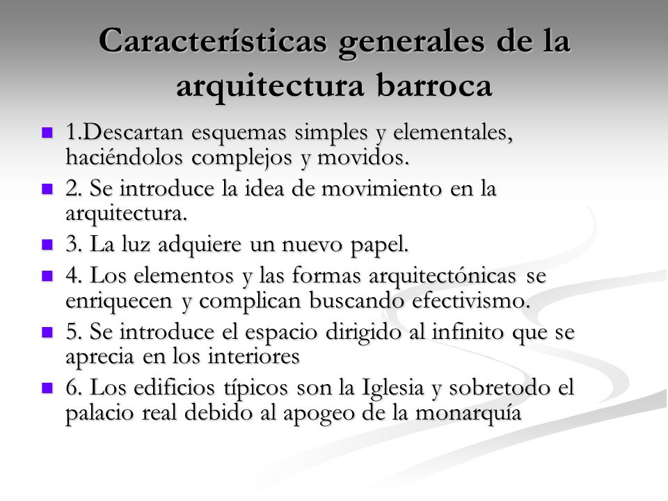 Barroco y rococ rub n rodr guez miguel cuadrado ppt for Caracteristicas de la arquitectura