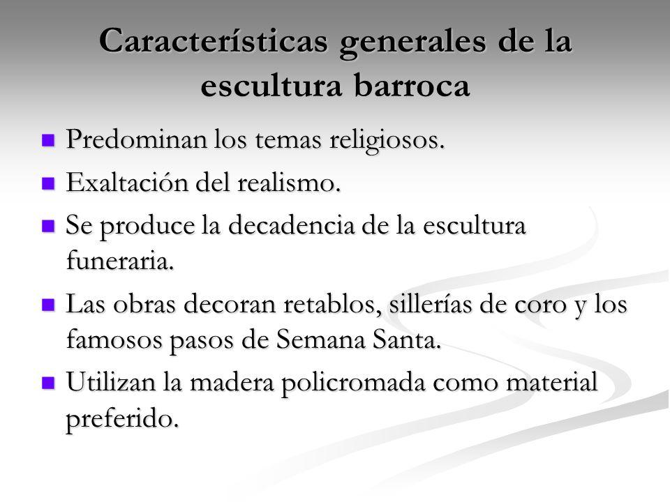 Características generales de la escultura barroca