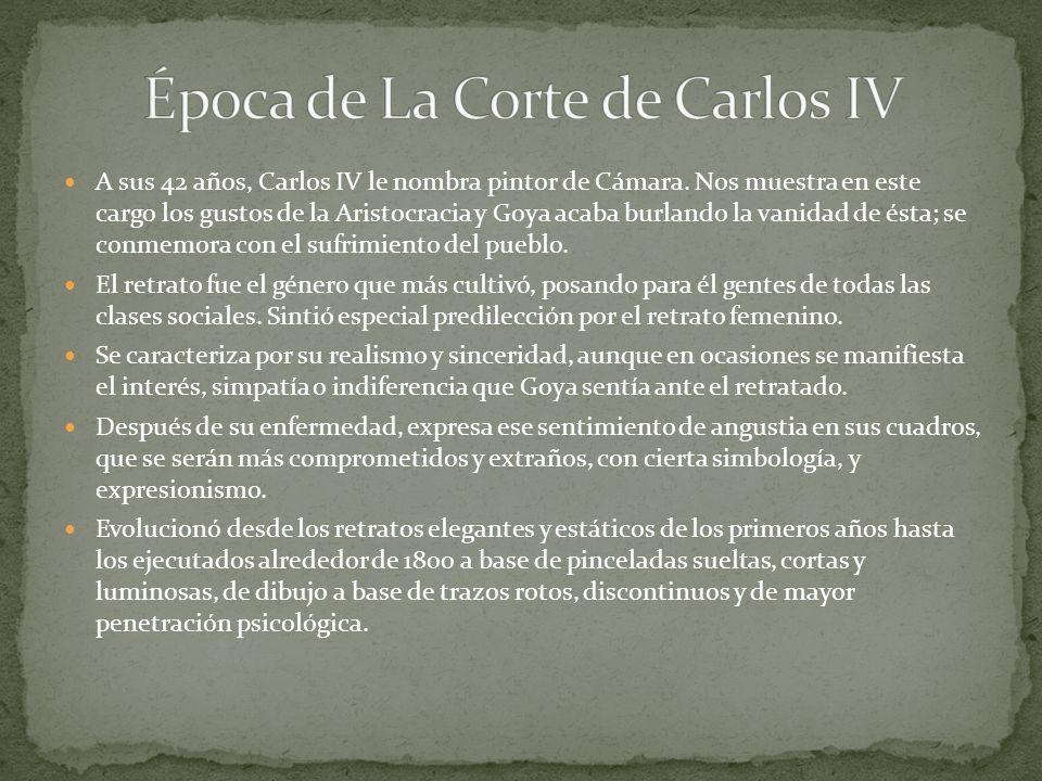 Época de La Corte de Carlos IV