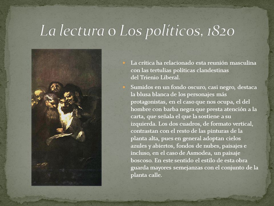 La lectura o Los políticos, 1820