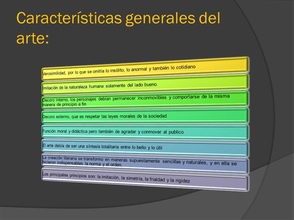 Características generales del arte: