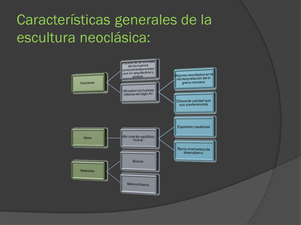 Características generales de la escultura neoclásica: