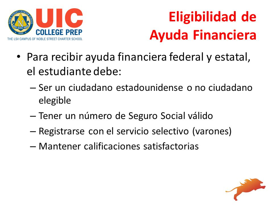 Eligibilidad de Ayuda Financiera