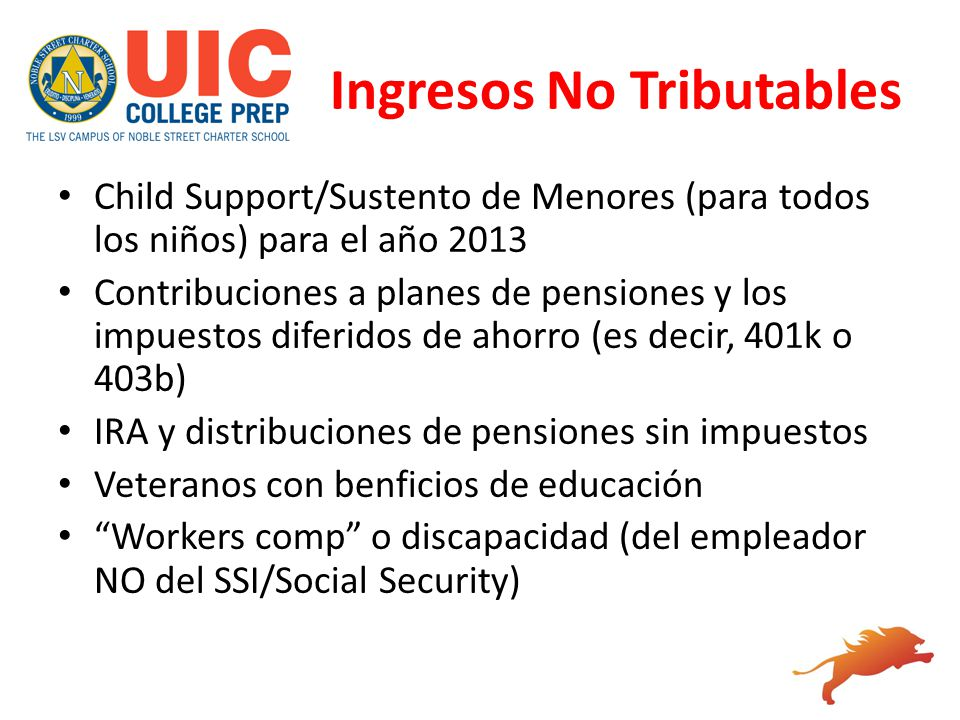 Ingresos No Tributables