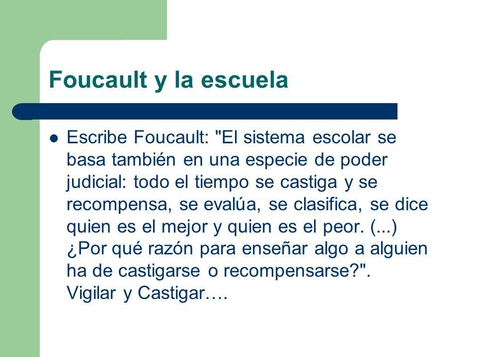 Foucault y la escuela