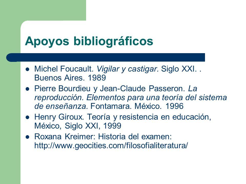 Apoyos bibliográficos