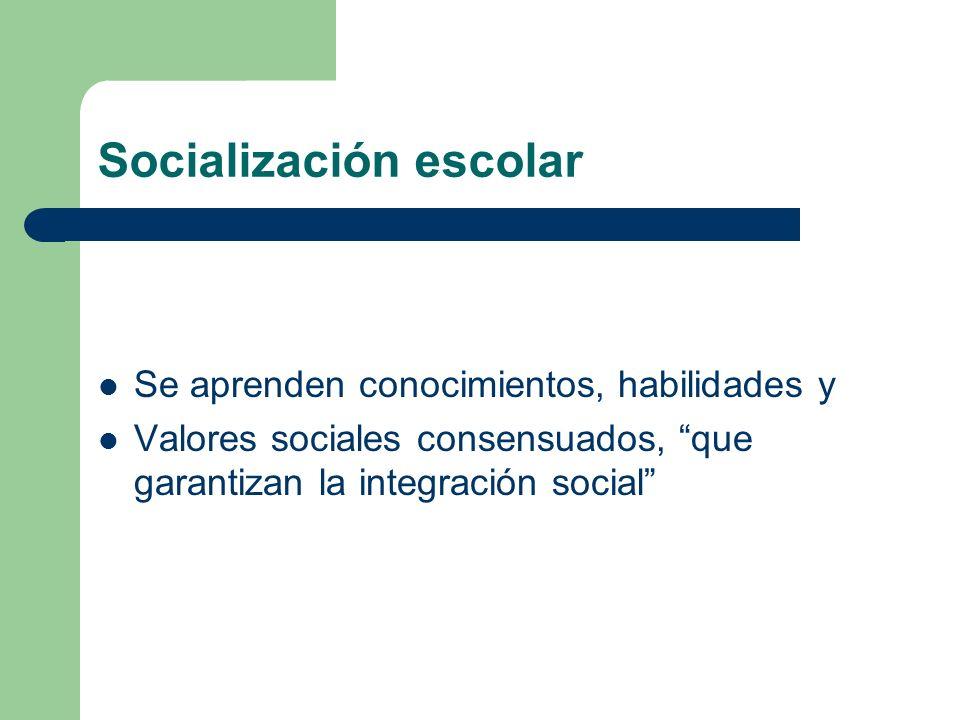 Socialización escolar