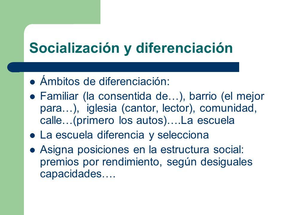 Socialización y diferenciación