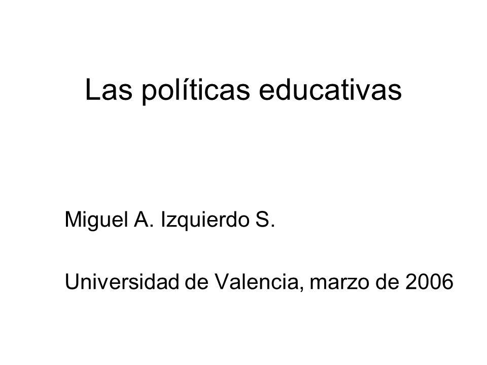 Las políticas educativas