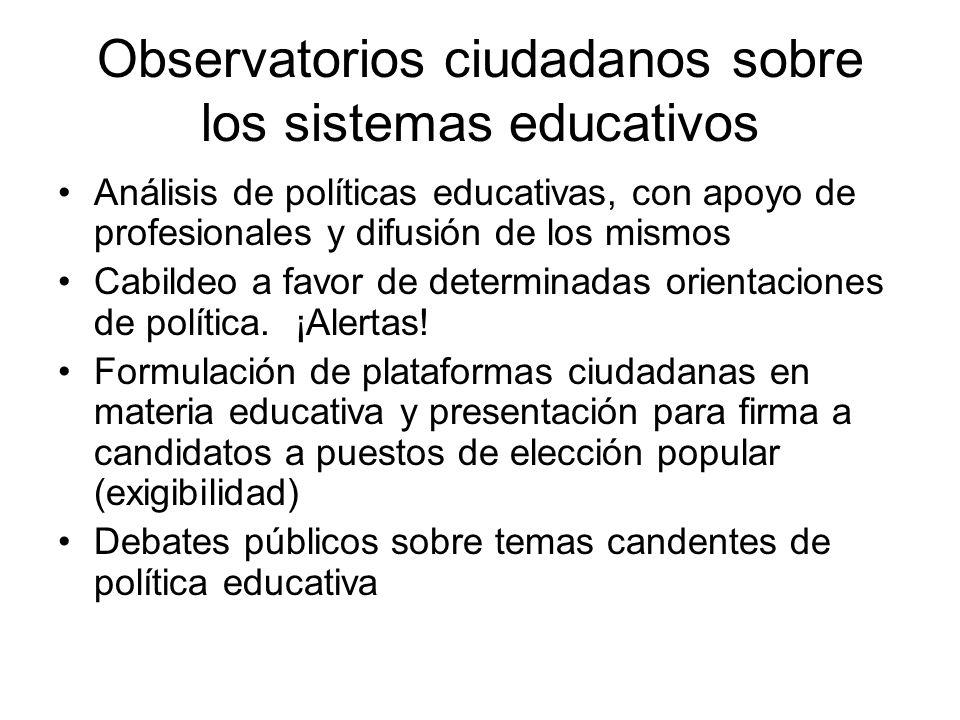 Observatorios ciudadanos sobre los sistemas educativos