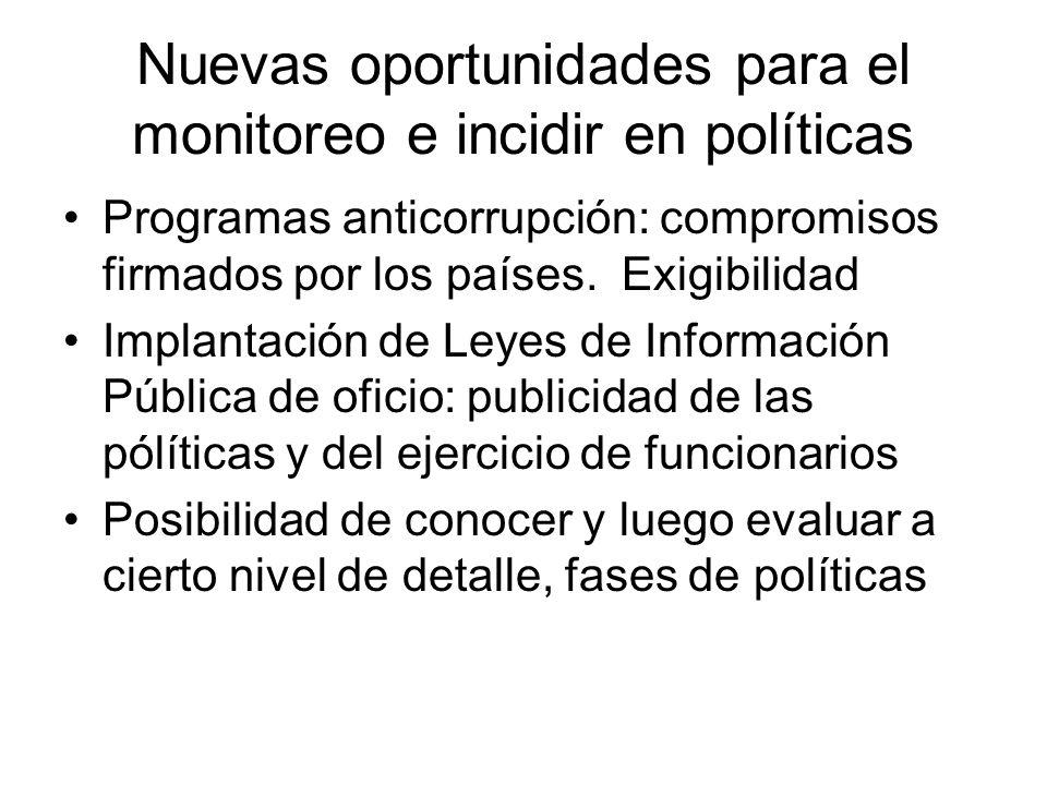 Nuevas oportunidades para el monitoreo e incidir en políticas