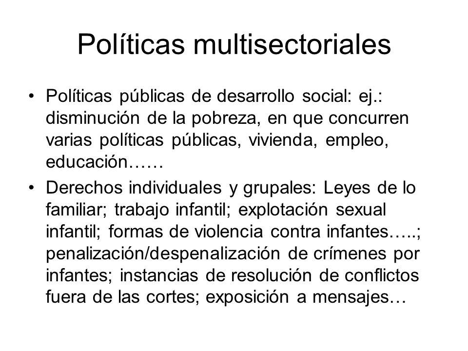 Políticas multisectoriales