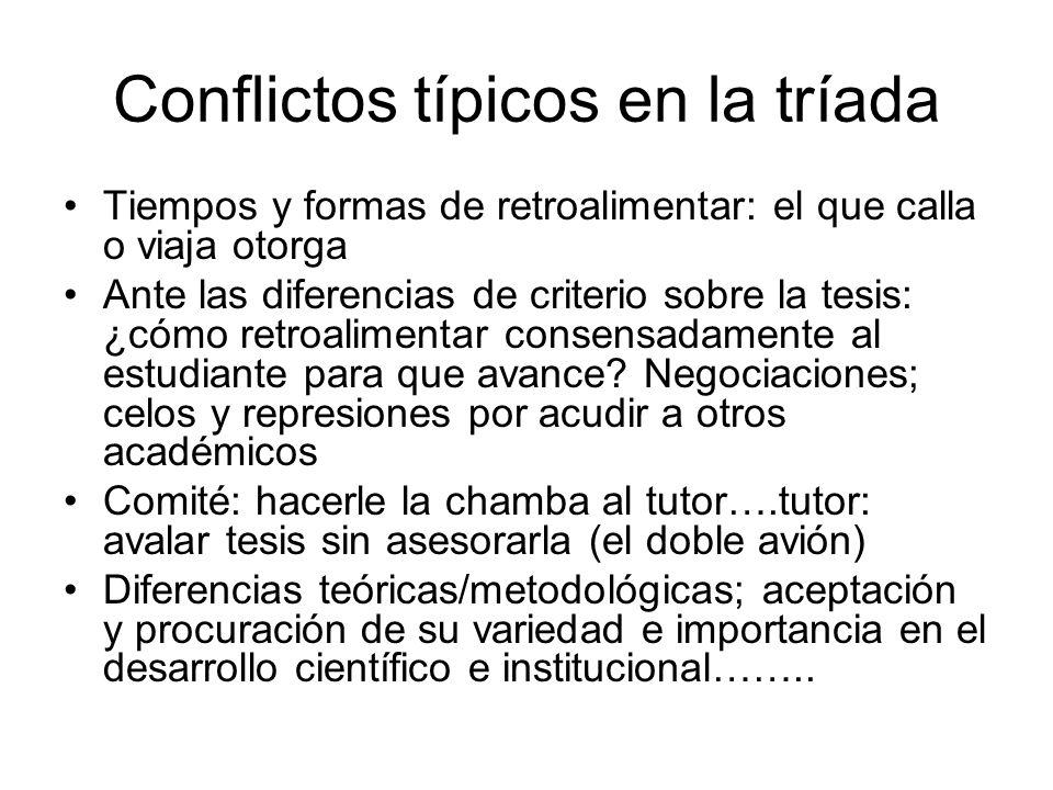 Conflictos típicos en la tríada