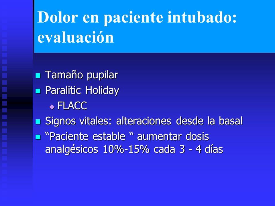 Dolor en paciente intubado: evaluación