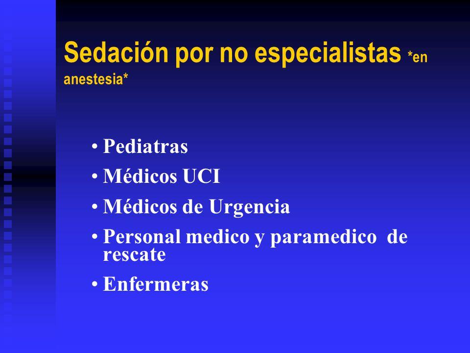 Sedación por no especialistas *en anestesia*