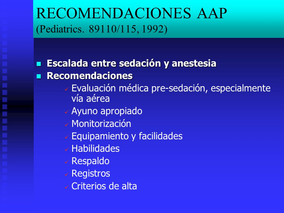 RECOMENDACIONES AAP (Pediatrics. 89110/115, 1992)