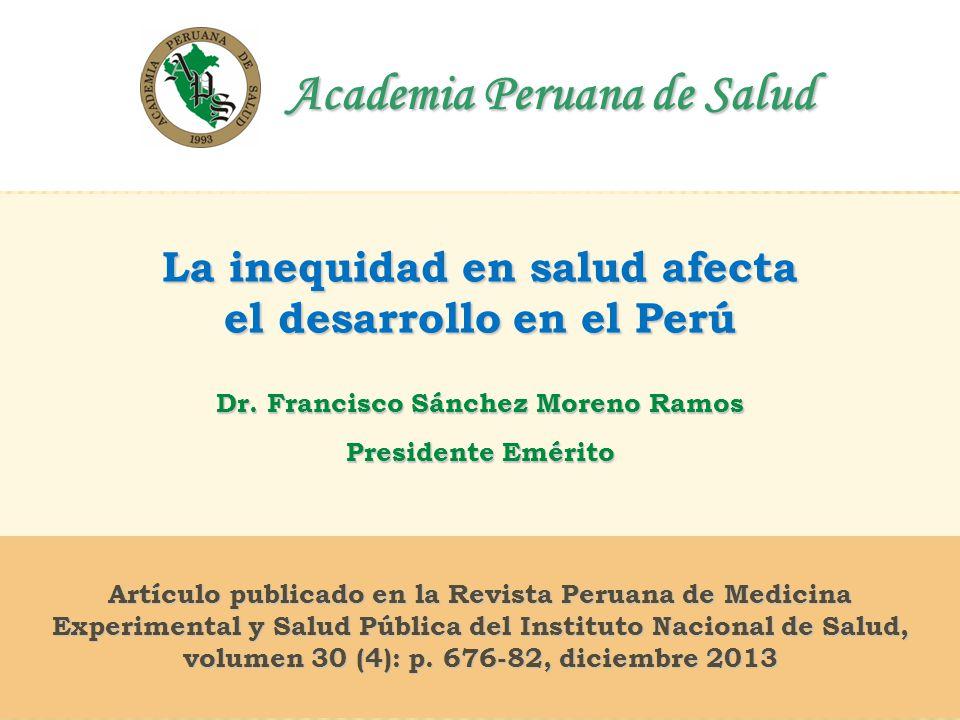 Academia Peruana de Salud Dr. Francisco Sánchez Moreno Ramos