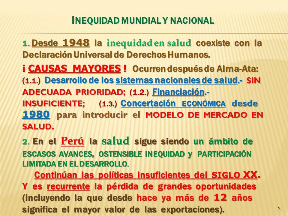 INEQUIDAD MUNDIAL Y NACIONAL