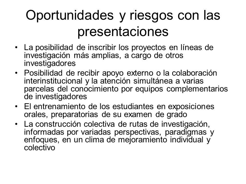 Oportunidades y riesgos con las presentaciones
