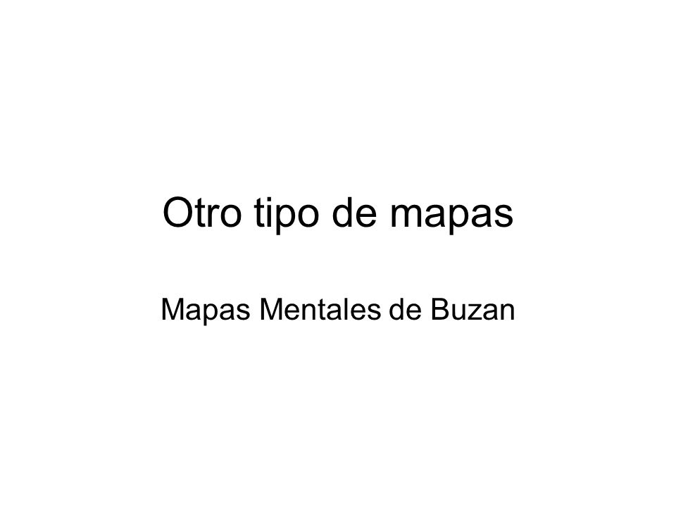 Mapas Mentales de Buzan