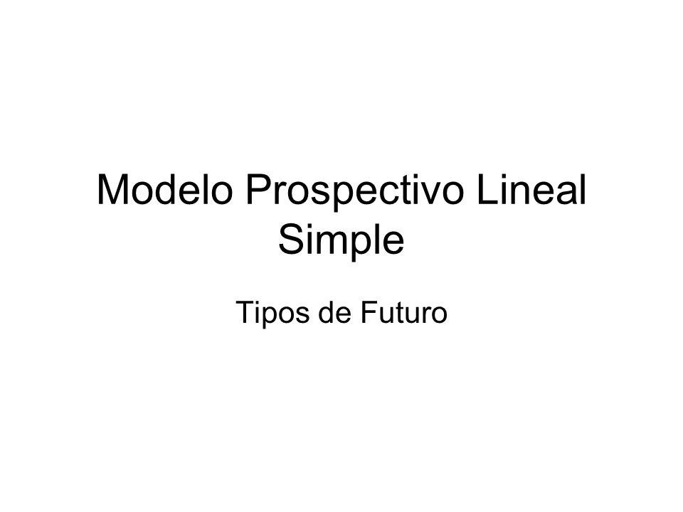 Modelo Prospectivo Lineal Simple