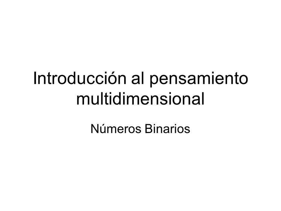 Introducción al pensamiento multidimensional