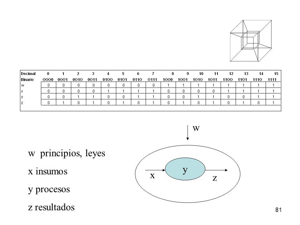 w w principios, leyes x insumos y procesos z resultados y x z