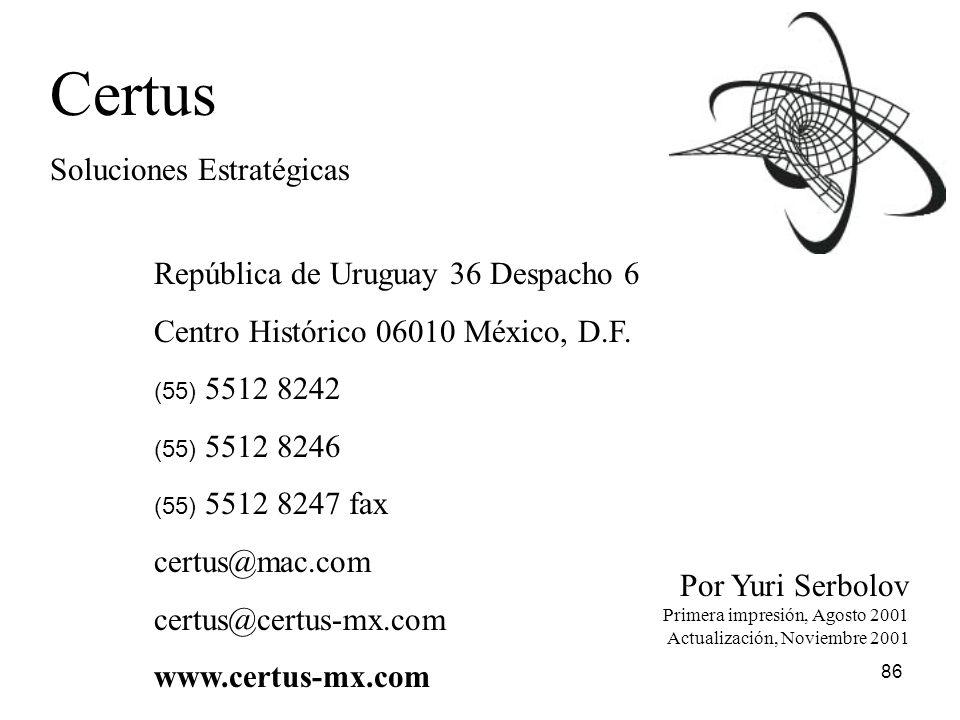 Certus Soluciones Estratégicas República de Uruguay 36 Despacho 6