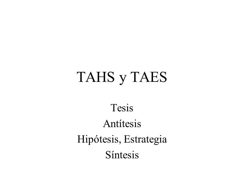 Tesis Antítesis Hipótesis, Estrategia Síntesis
