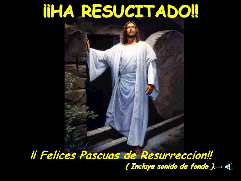 ¡¡ Felices Pascuas de Resurreccion!! ( Incluye sonido de fondo ).