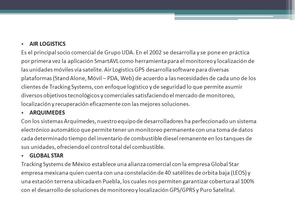 AIR LOGISTICS Es el principal socio comercial de Grupo UDA. En el 2002 se desarrolla y se pone en práctica.