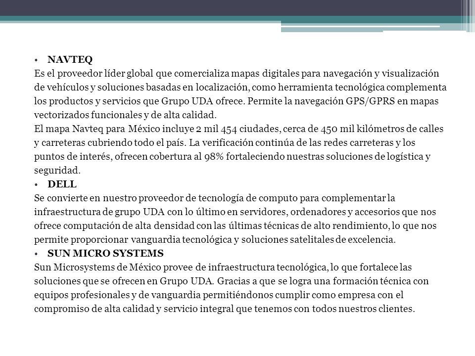 NAVTEQEs el proveedor líder global que comercializa mapas digitales para navegación y visualización.