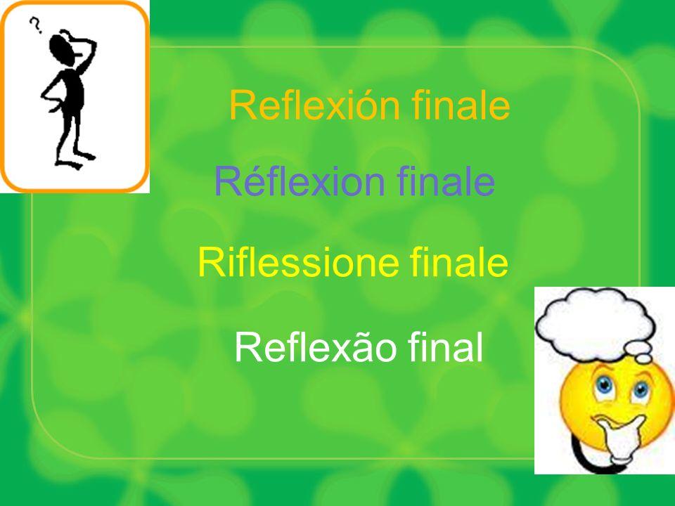 Reflexión finale Réflexion finale Riflessione finale Reflexão final
