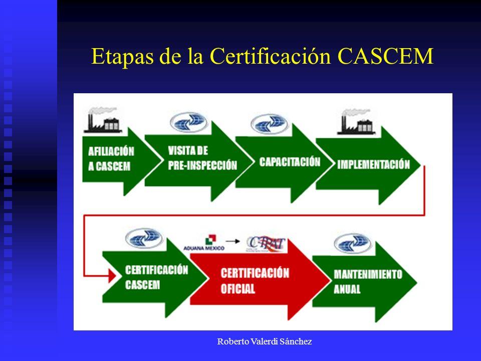 Etapas de la Certificación CASCEM