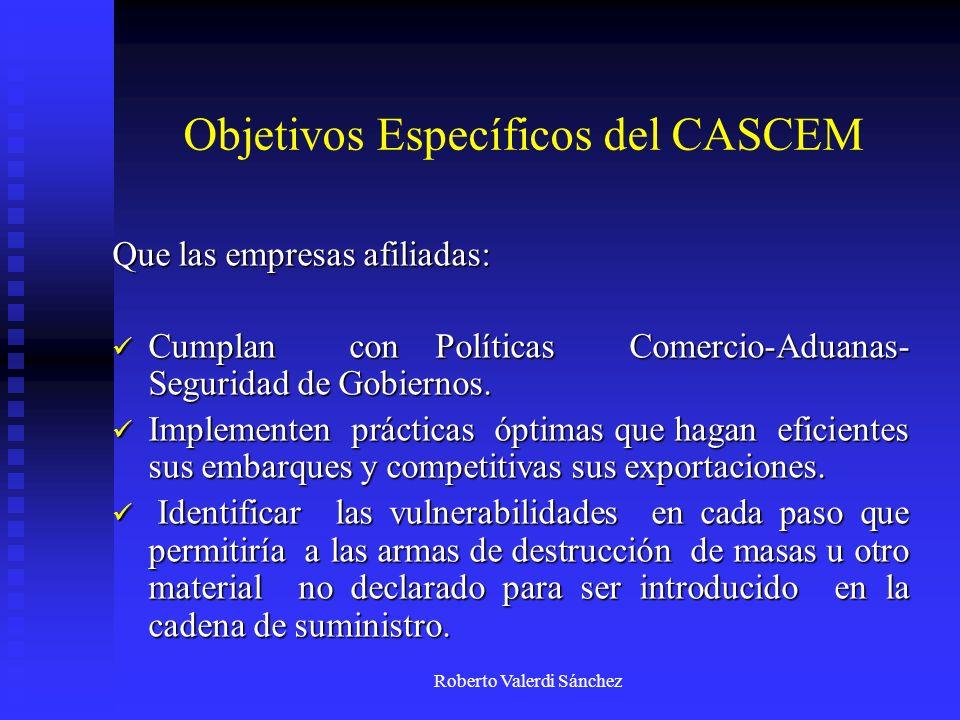 Objetivos Específicos del CASCEM