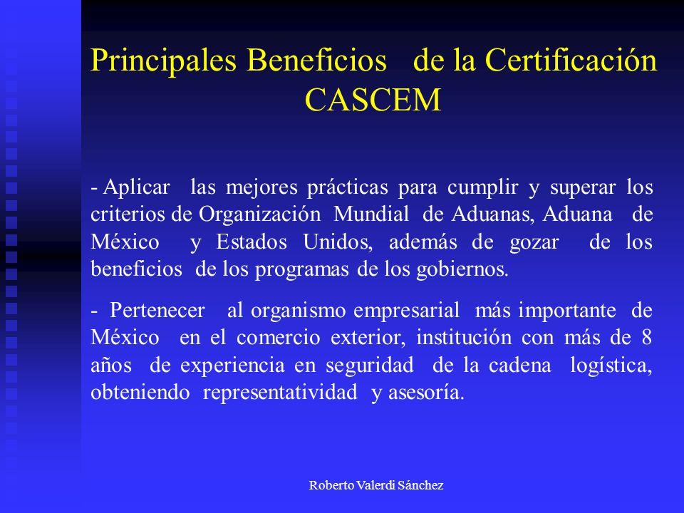 Principales Beneficios de la Certificación CASCEM
