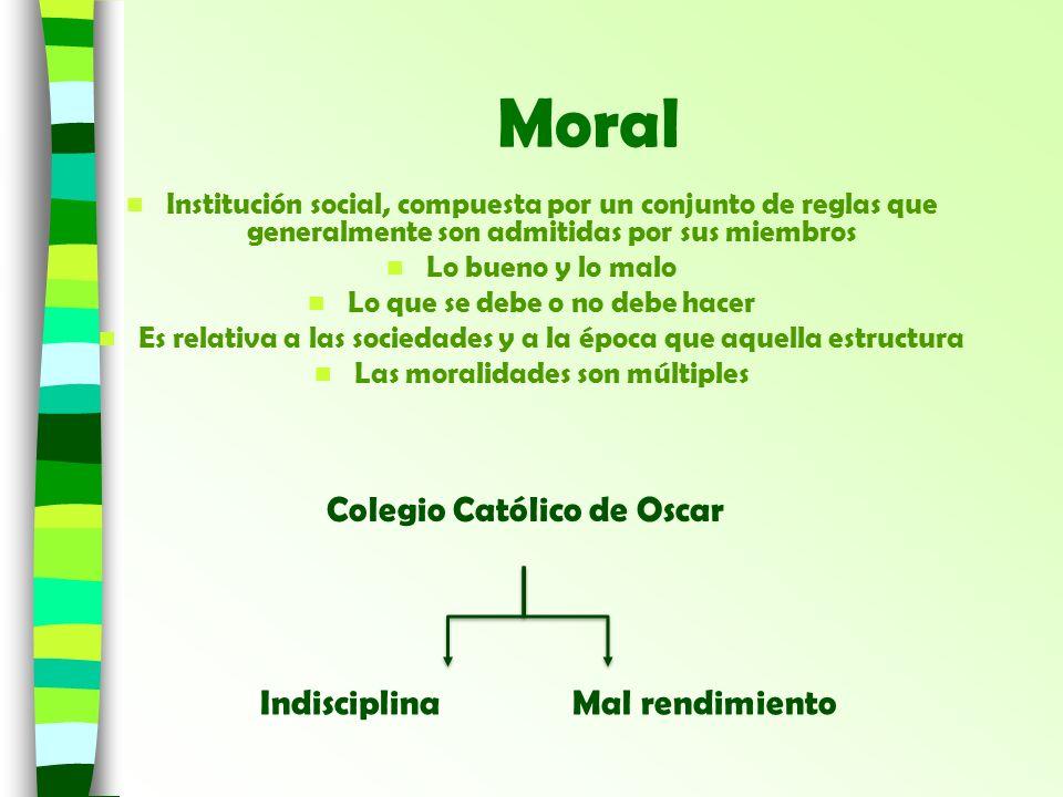 Moral Colegio Católico de Oscar Indisciplina Mal rendimiento