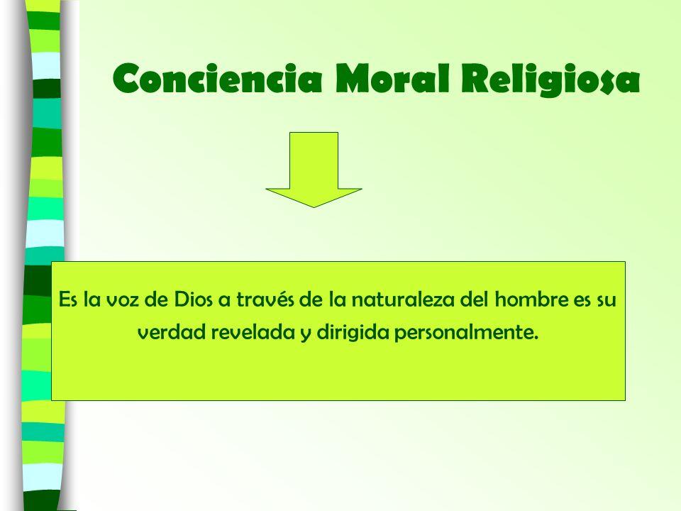 Conciencia Moral Religiosa