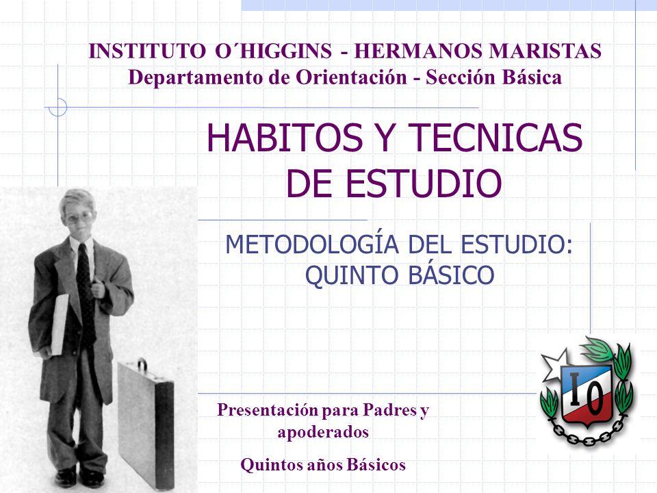 HABITOS Y TECNICAS DE ESTUDIO