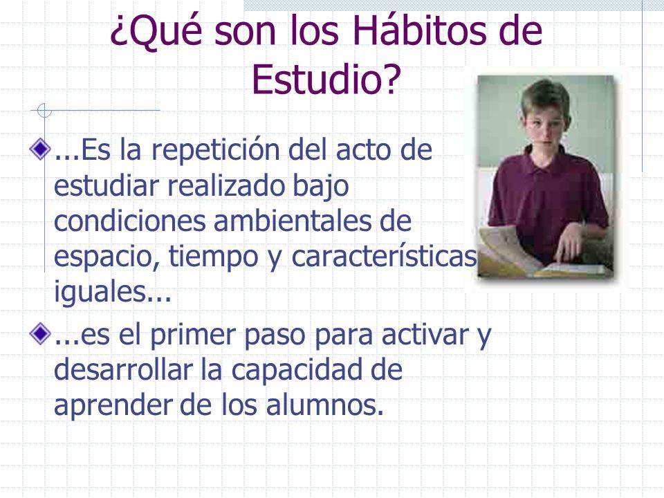 ¿Qué son los Hábitos de Estudio